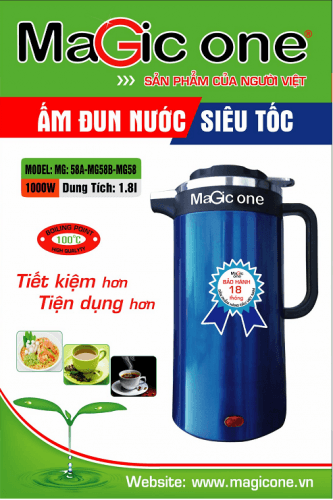 ấm siêu tốc magic one mg58a